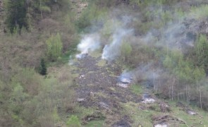 Waldbrand in Dornauberg - Finkenberg