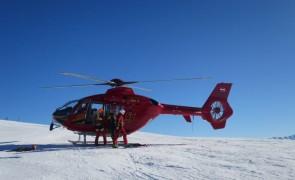 Taubergung eines verletzten Wintersportlers in Gerlos