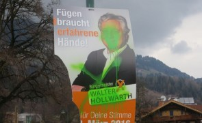 Vandalismus durch Graffitis in Fügen