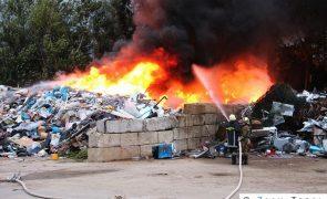Brand in Recyclingdeponie
