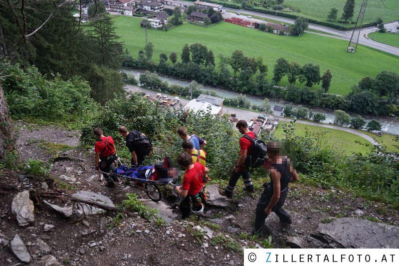 Klettersteig Mayrhofen : Zwei paralleleinsätze beim klettersteig forderte die bergrettung