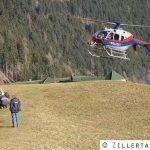 Waldbrand entlang Lifttrasse forderte Einsatzkräfte - Finkenberg