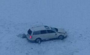 Fahrzeugabsturz auf B169 in Finkenberg